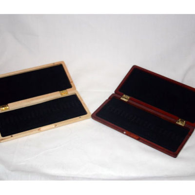Wooden oboe reed case for 20 (ribbon style)