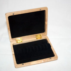 Oboe reed case, wood, holds 12 (ribbon-style)