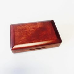 Bassoon reed case, wood, holds 2 (peg-style)