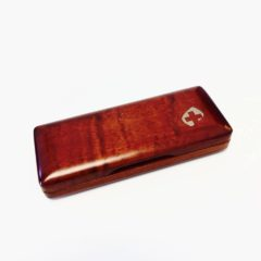 Bassoon reed case, wood, holds 1 (peg-style)